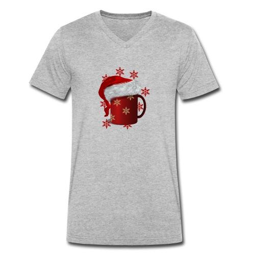 Gluehwein mit Muetze - Männer Bio-T-Shirt mit V-Ausschnitt von Stanley & Stella