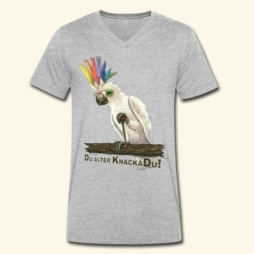 Armer, alter Knackadu! - Männer Bio-T-Shirt mit V-Ausschnitt von Stanley & Stella