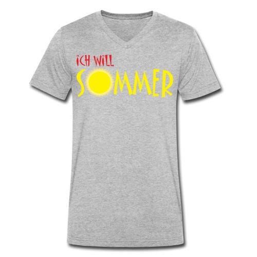 Ich will Sommer - Männer Bio-T-Shirt mit V-Ausschnitt von Stanley & Stella