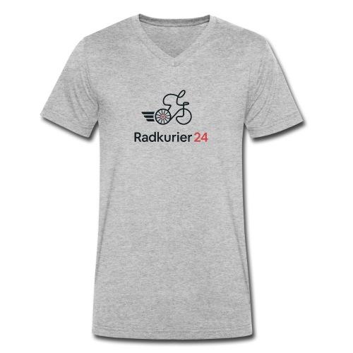 Radkurier24 Logo - Männer Bio-T-Shirt mit V-Ausschnitt von Stanley & Stella