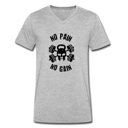 No Pain No gain - T-shirt ecologica da uomo con scollo a V di Stanley & Stella