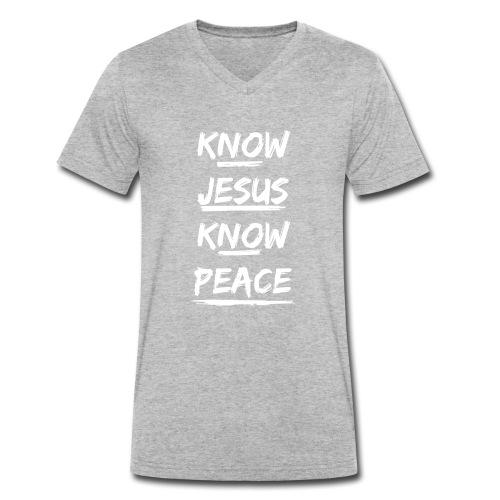 know-jesus-shirt - Männer Bio-T-Shirt mit V-Ausschnitt von Stanley & Stella