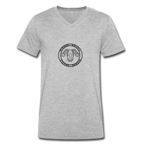 RamSkull Apparell Grey pullover hoodie - Men's Organic V-Neck T-Shirt by Stanley & Stella
