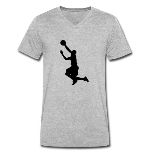 BALONCESTO - Camiseta ecológica hombre con cuello de pico de Stanley & Stella