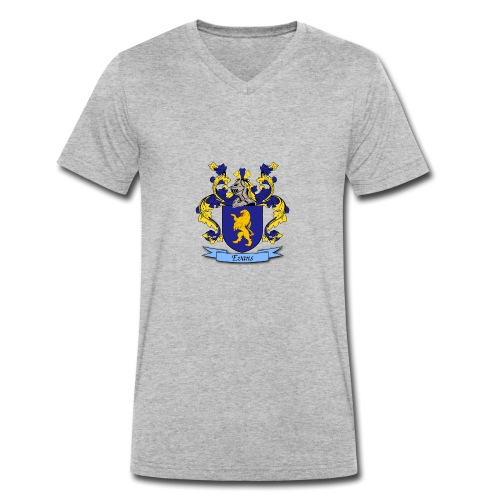 Evans Family Crest - Men's Organic V-Neck T-Shirt by Stanley & Stella