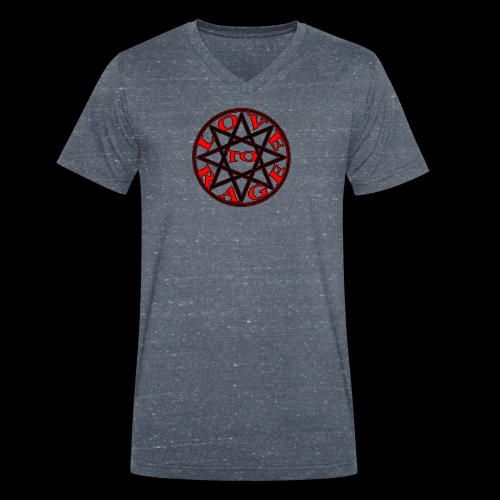 ESTRELLA love to rage - Camiseta ecológica hombre con cuello de pico de Stanley & Stella