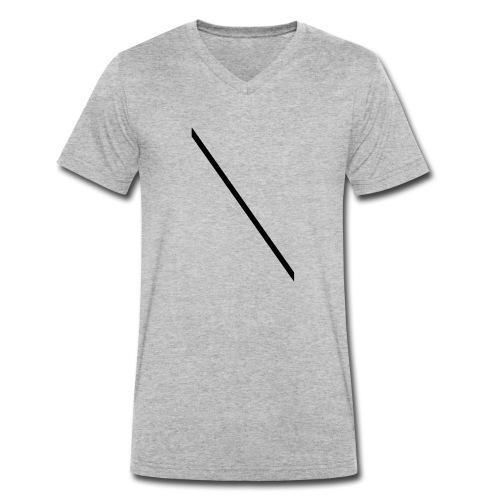 Minimale-Diagonale - Men's Organic V-Neck T-Shirt by Stanley & Stella