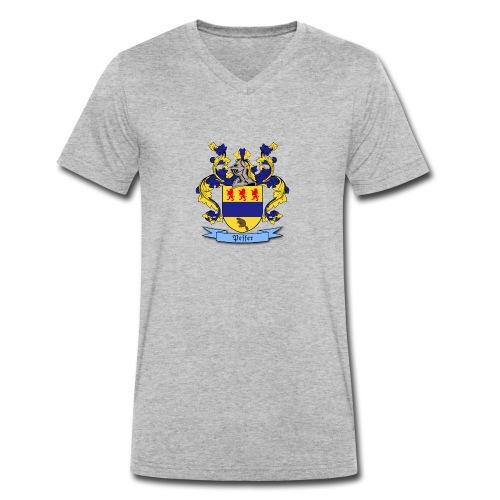 Peffer Family Crest - Men's Organic V-Neck T-Shirt by Stanley & Stella