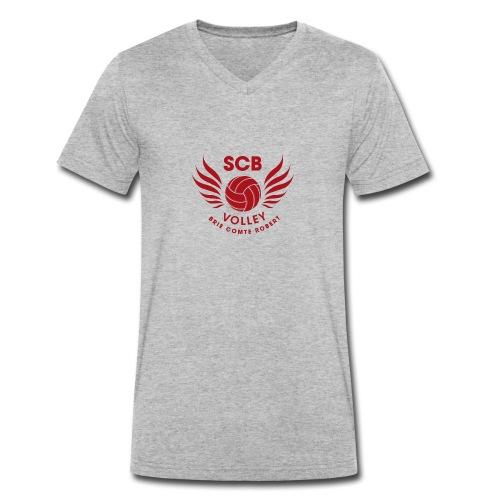 LogosVolleyBall MonochromeRouge - T-shirt bio col V Stanley & Stella Homme