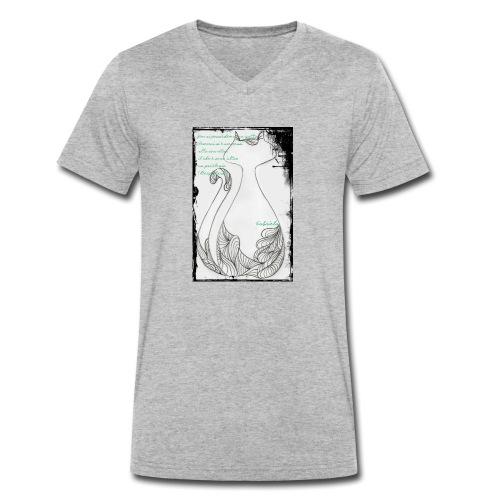 Gatto elegante 2 - T-shirt ecologica da uomo con scollo a V di Stanley & Stella