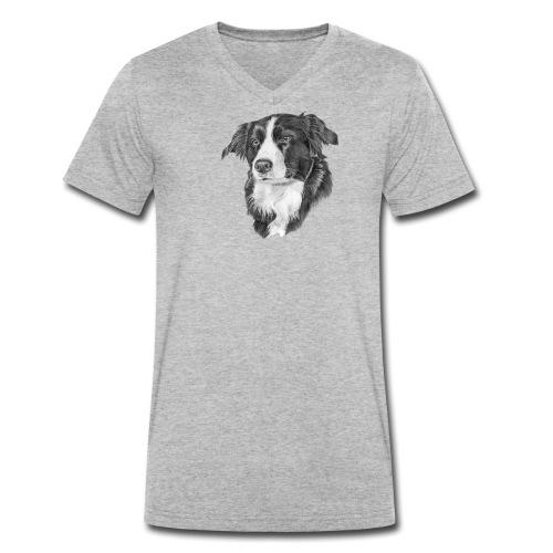 border collie S - Økologisk Stanley & Stella T-shirt med V-udskæring til herrer