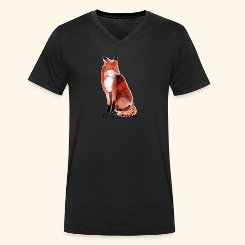 FOX - T-shirt ecologica da uomo con scollo a V di Stanley & Stella
