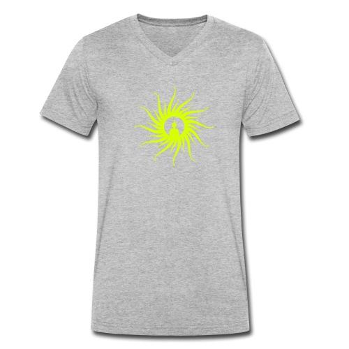 Buddha Sun - Männer Bio-T-Shirt mit V-Ausschnitt von Stanley & Stella