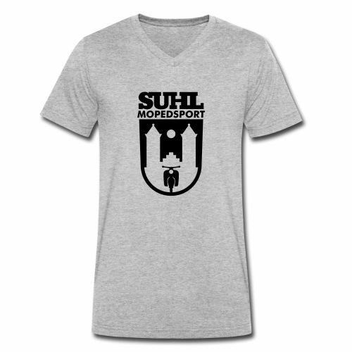 Suhl Mopedsport Schwalbe Logo - Men's Organic V-Neck T-Shirt by Stanley & Stella