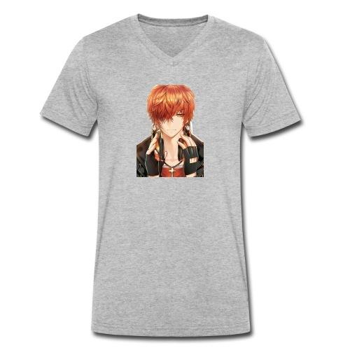 Hier Mein Face - Männer Bio-T-Shirt mit V-Ausschnitt von Stanley & Stella