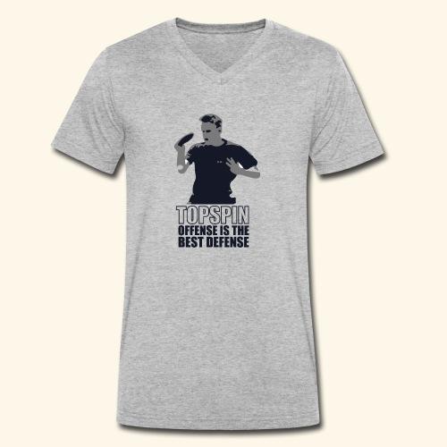 Good slashing serve table tennis - Männer Bio-T-Shirt mit V-Ausschnitt von Stanley & Stella