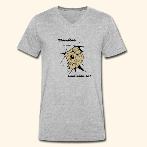 Doodles sind eben so! - Männer Bio-T-Shirt mit V-Ausschnitt von Stanley & Stella