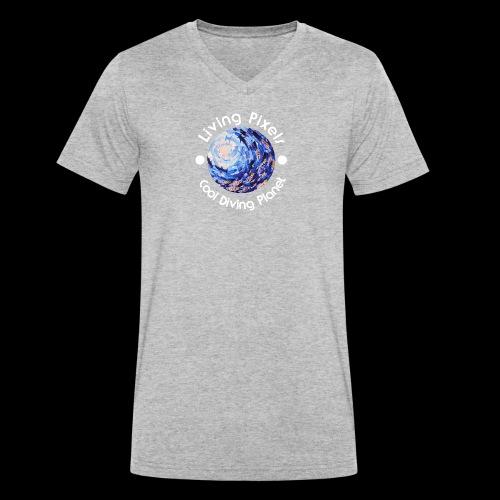Living Pixels, Cool Diving Planet, Tauchen, hell - Männer Bio-T-Shirt mit V-Ausschnitt von Stanley & Stella