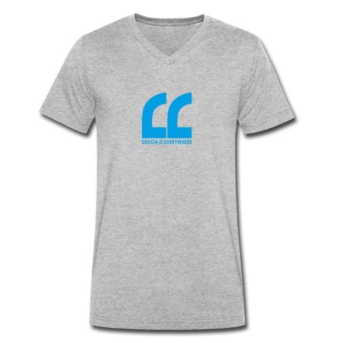 blue - Men's Organic V-Neck T-Shirt by Stanley & Stella