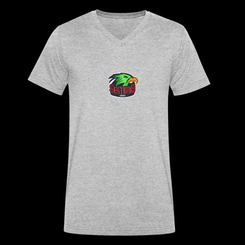 Sektion9 Logo Grün - Männer Bio-T-Shirt mit V-Ausschnitt von Stanley & Stella