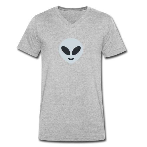Alien Gray - Camiseta ecológica hombre con cuello de pico de Stanley & Stella