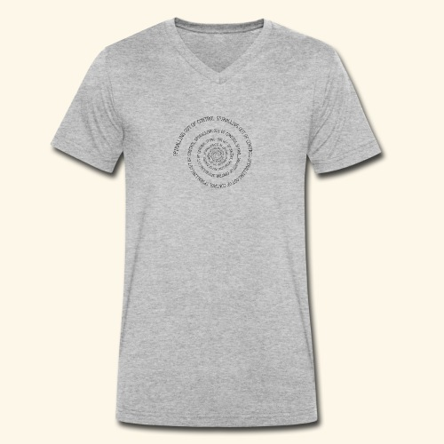 SPIRAL TEXT LOGO BLACK IMPRINT - Men's Organic V-Neck T-Shirt by Stanley & Stella