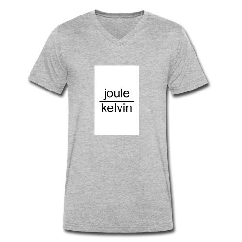 J/K unità di misura dell'ENTROPIA - T-shirt ecologica da uomo con scollo a V di Stanley & Stella