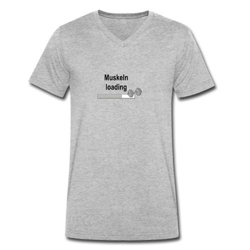 Muskeln loading - Männer Bio-T-Shirt mit V-Ausschnitt von Stanley & Stella