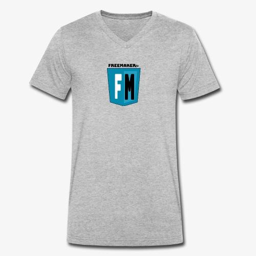 Logo Freemaker - T-shirt ecologica da uomo con scollo a V di Stanley & Stella