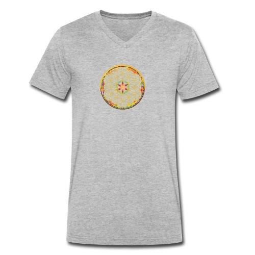 flower of life - Men's Organic V-Neck T-Shirt by Stanley & Stella