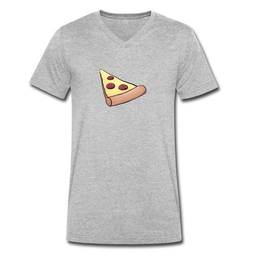 Pizzastück für Eltern-Baby-Partnerlook - Männer Bio-T-Shirt mit V-Ausschnitt von Stanley & Stella