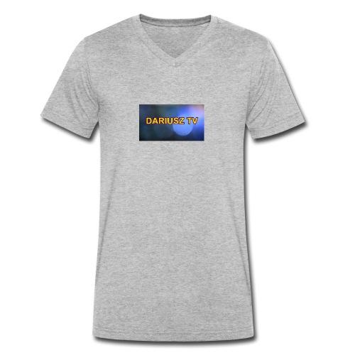 DARIUSZ TV - Ekologiczna koszulka męska z dekoltem w serek Stanley & Stella