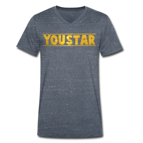 Golden Youstar Merch - Men's Organic V-Neck T-Shirt by Stanley & Stella