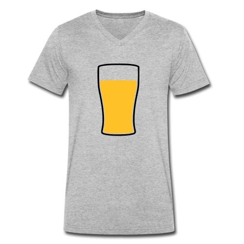 Bier! - Männer Bio-T-Shirt mit V-Ausschnitt von Stanley & Stella
