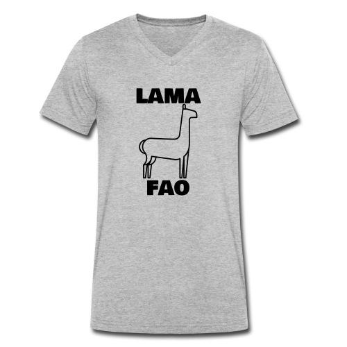 LaMaFAO - Männer Bio-T-Shirt mit V-Ausschnitt von Stanley & Stella