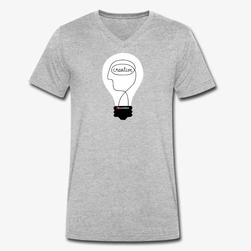 Creative Bulb Kunstbox png - Männer Bio-T-Shirt mit V-Ausschnitt von Stanley & Stella