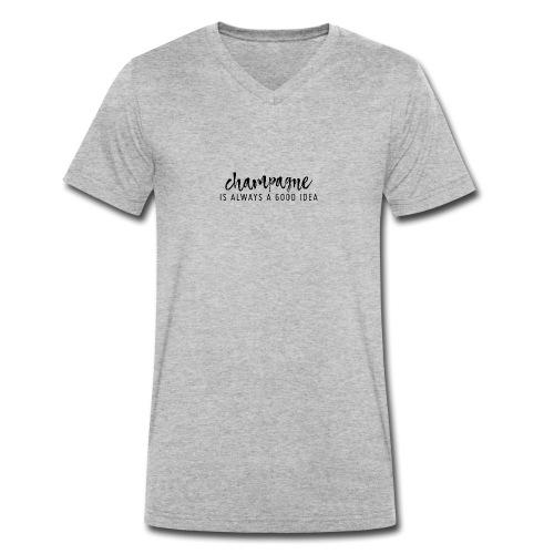 Champagner ist immer eine gute Idee! - Männer Bio-T-Shirt mit V-Ausschnitt von Stanley & Stella