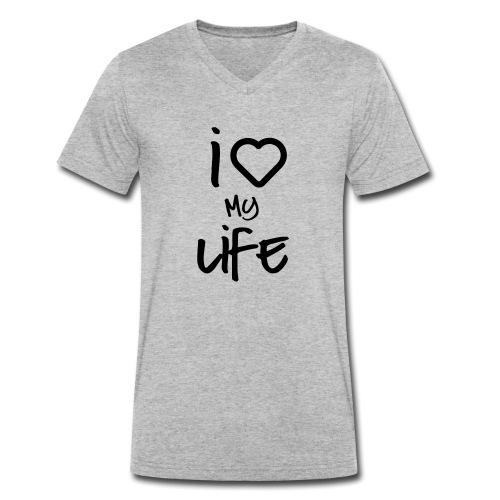 i love my life 2 - T-shirt bio col V Stanley & Stella Homme