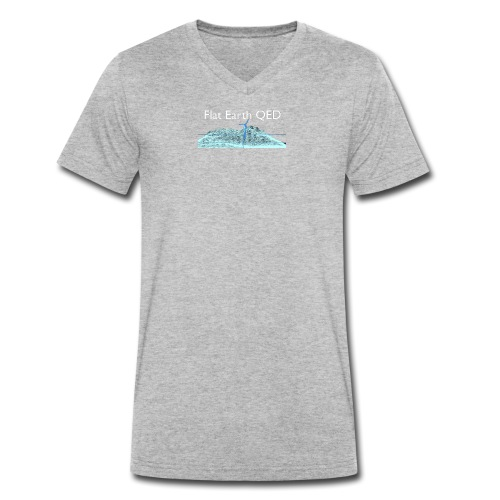 Flat Earth QED - Men's Organic V-Neck T-Shirt by Stanley & Stella
