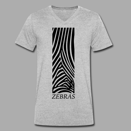 zebras - Men's Organic V-Neck T-Shirt by Stanley & Stella