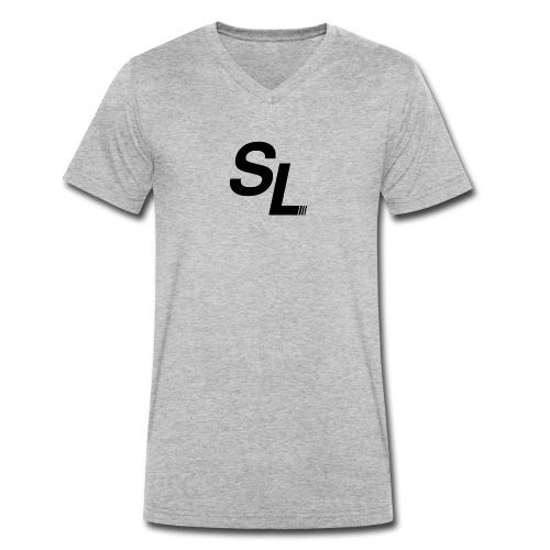 SL Logo Sort - Økologisk T-skjorte med V-hals for menn fra Stanley & Stella
