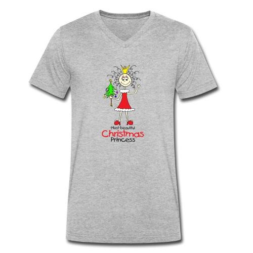 Most beautiful Christmas Princess - Männer Bio-T-Shirt mit V-Ausschnitt von Stanley & Stella