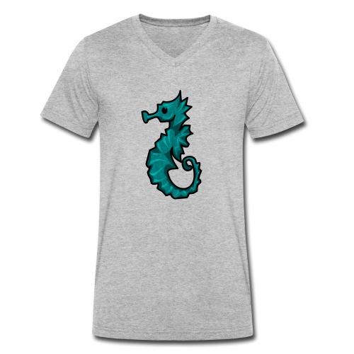 Cabalito de Mar kawaii - Camiseta ecológica hombre con cuello de pico de Stanley & Stella