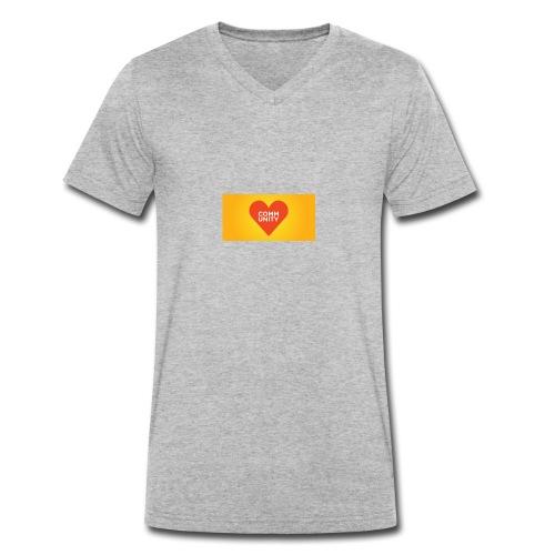 I LOVE COMMUNITY T-SHIRT - Männer Bio-T-Shirt mit V-Ausschnitt von Stanley & Stella
