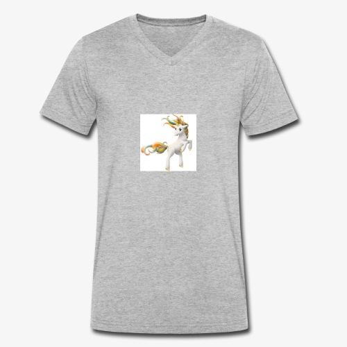 Love Unicorn - Männer Bio-T-Shirt mit V-Ausschnitt von Stanley & Stella
