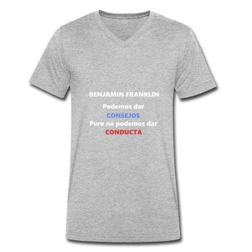 Consejo del vecino Benjamin Franklin - Camiseta ecológica hombre con cuello de pico de Stanley & Stella