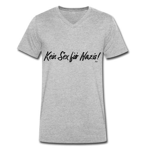 Keinsexfuernazis - Männer Bio-T-Shirt mit V-Ausschnitt von Stanley & Stella