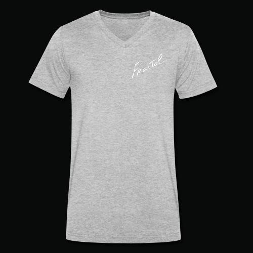 Signature-Fractal-white - T-shirt bio col V Stanley & Stella Homme