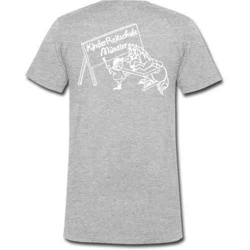 LogoWeiss - Männer Bio-T-Shirt mit V-Ausschnitt von Stanley & Stella