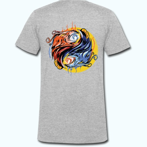 Japan Phoenix - Men's Organic V-Neck T-Shirt by Stanley & Stella